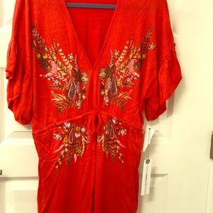 O'Neil red cover up dress